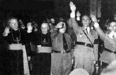 """""""deutscher"""" Gruss in der Kirche"""