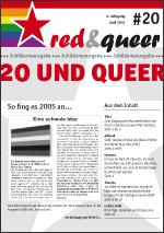 Titel red&queer 20 - Jubiläumsausgabe
