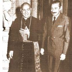 Bergoglio mit dem argentinischen Diktator Videla!