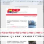 Gibt es auch in scharf: der neue DKP queer Newsletter.