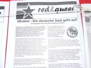 red&queer Extra zur Lage in der Ukraine