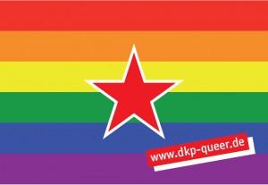 DKP-queer Aufkleber