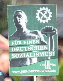 """Quelle Wikimedia: Mit dieser Form der sozialen Demagogie des Faschismus geht diese """"Partei"""" auf Stimmenfang."""